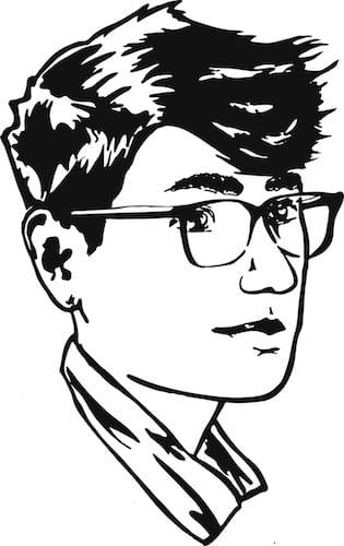 A sketched self-portrait of Cal Tabuena-Frolli