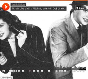 """A SoundCloud link to """"Throw Like a Girl"""""""
