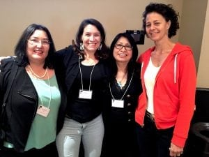 "Jaclyn Sallee (President and CEO of Koahnic Broadcasting), Allison Herrera (Reporter for PRI and creator of ""Invisible Nations""), Loris Taylor (President and CEO of Native Public Media), Sue Schardt (CEO of AIR and Executive Producer of Localore)"